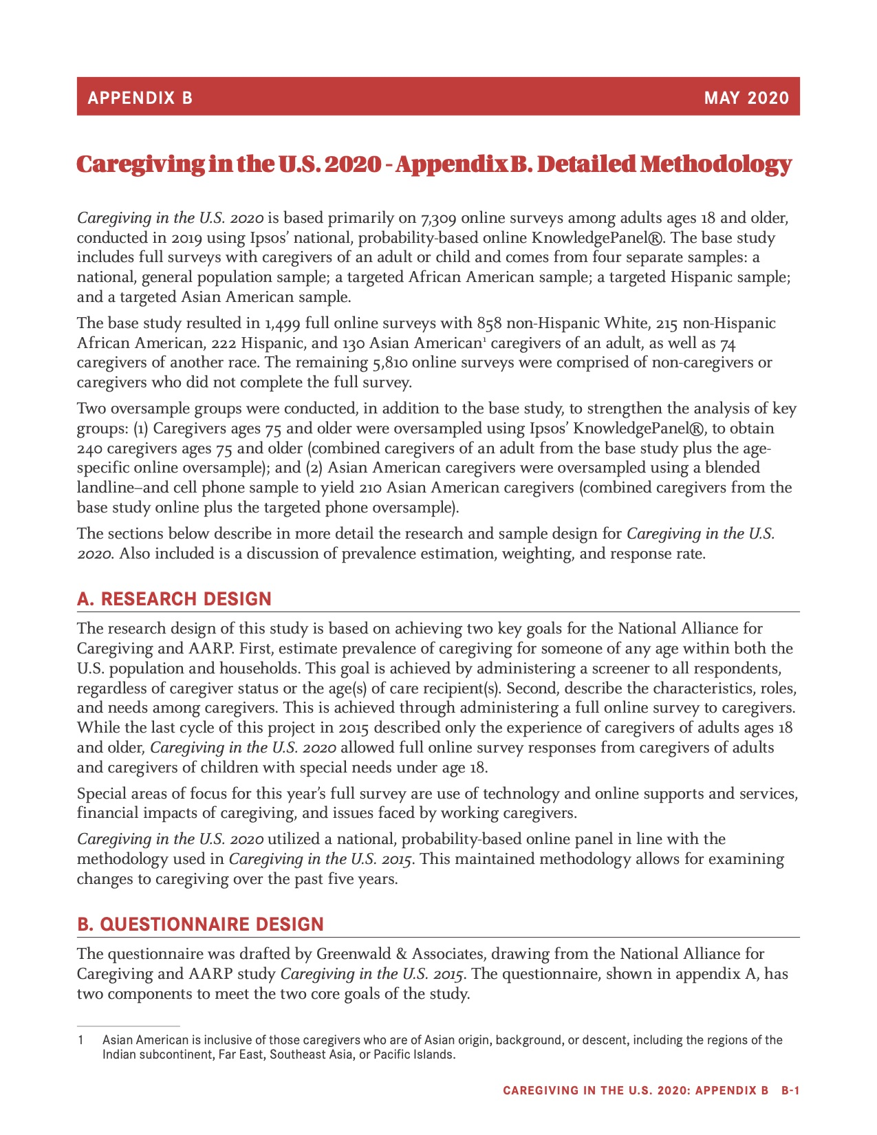 Appendix B Caregiving in the United States 2020 Cover Photo