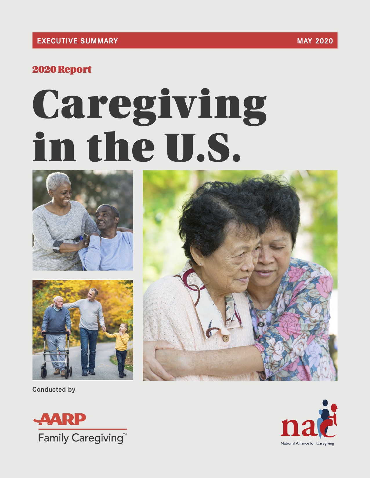 Executive Summary Caregiving in the United States 2020 Cover Photo