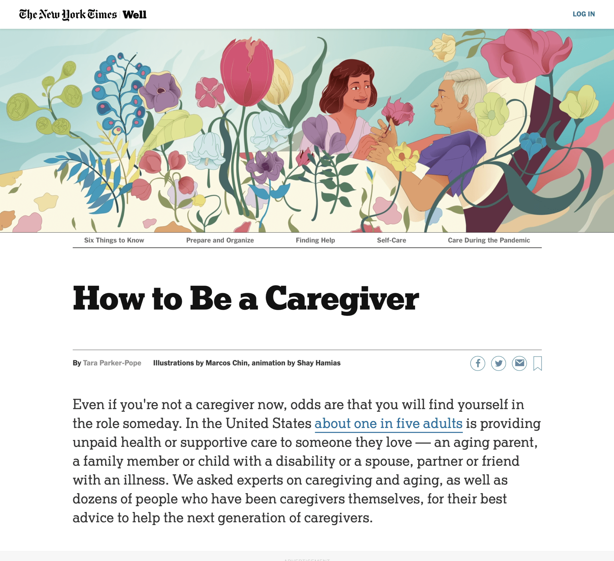The New York Times | How to Be a Caregiver