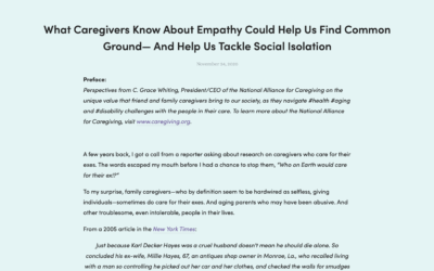 Engaging Older Adults | What Caregivers Know About Empathy Could Help Us Find Common Ground